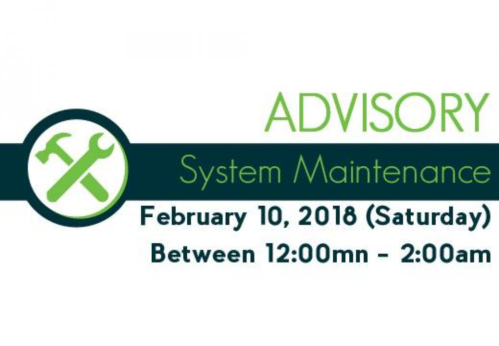 system maintenance advisory 4