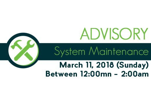 system maintenance advisory 8