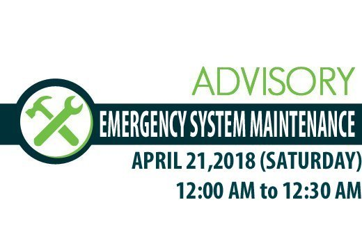 system maintenance advisory 5