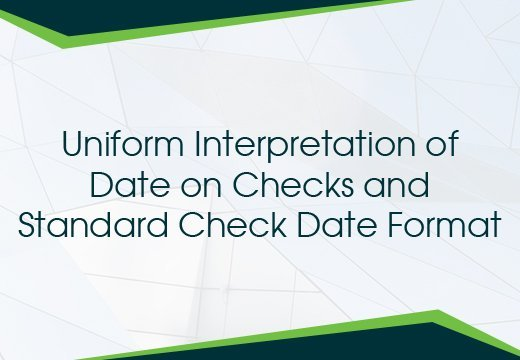 date on check and date format