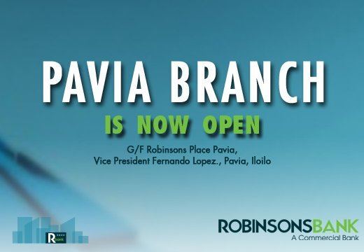 Pavia Branch is now open