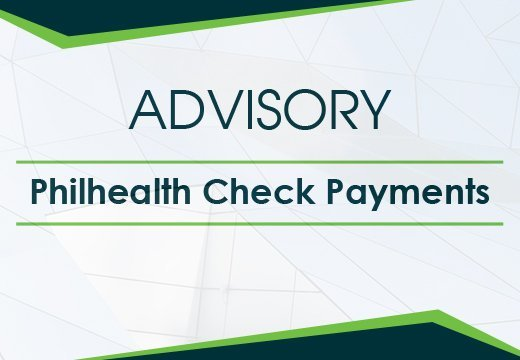 advisory Philhealth check payments