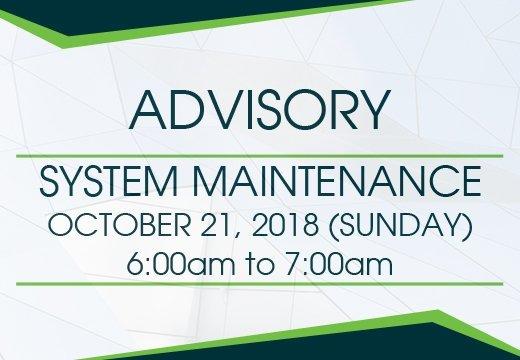 system maintenance advisory 3.