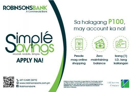 Simple Savings Banner