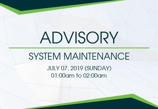 system maintenance advisory 9