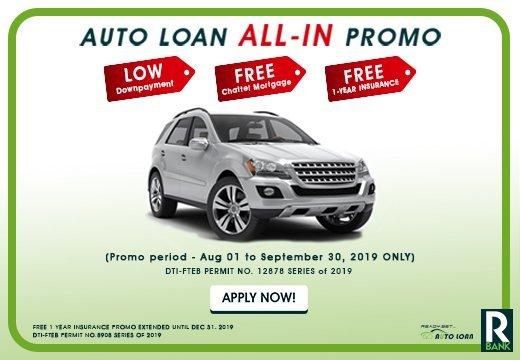 autoloan all-in promo