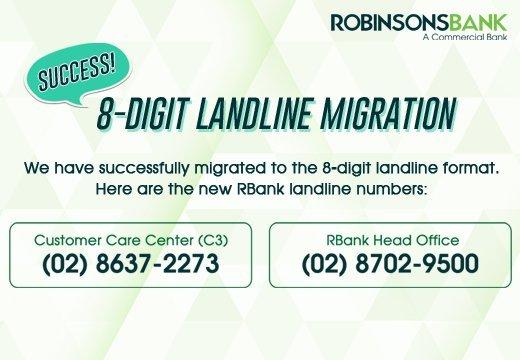 8-digit line migration