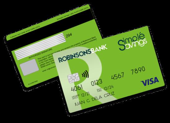 Rbank simple savings card 2