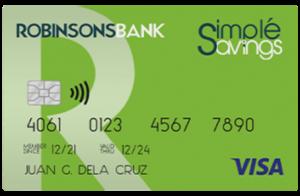simple savings card