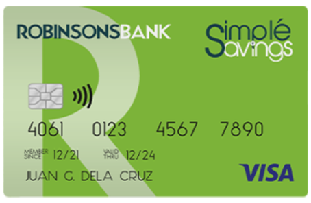 simple savings card